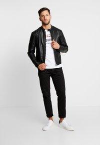 Produkt - PKTDLN DYLAN BIKER JACKET - Faux leather jacket - black - 1