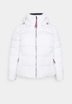 GLOBAL STRIPE HIP - Down jacket - classic white
