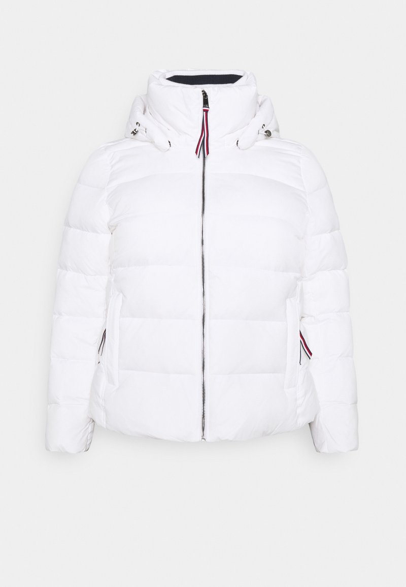 Tommy Hilfiger Curve - GLOBAL STRIPE HIP - Down jacket - classic white
