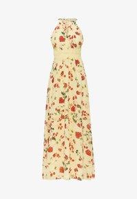 Vila - VIMILINA HALTERNECK DRESS - Suknia balowa - mellow yellow - 0