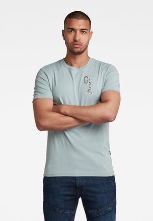 T-shirt con stampa - synthetic blue
