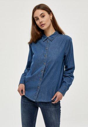 Button-down blouse - light blue wash