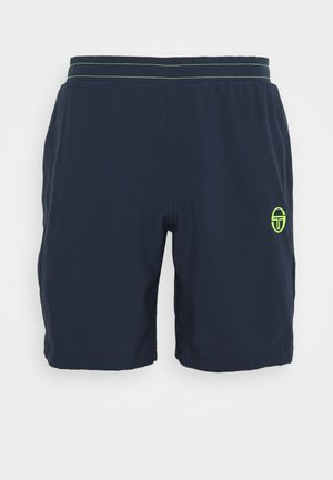 CLUB TECH  - Sports shorts - navy/yellowfluo