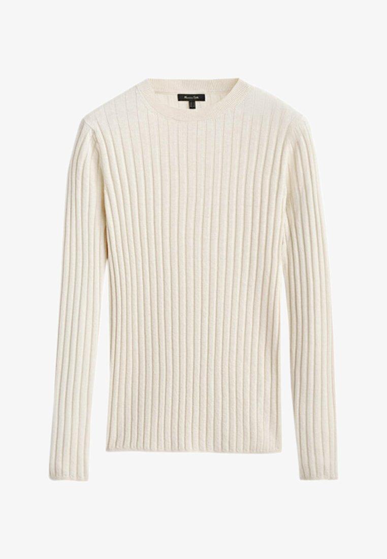Massimo Dutti - Stickad tröja - beige