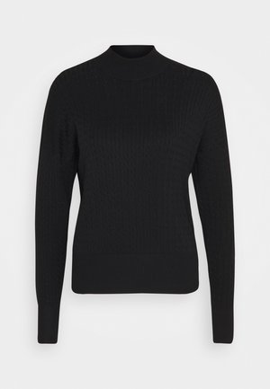 CABLE KNIT JUMPER - Jumper - black
