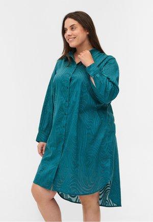 Button-down blouse - pacific