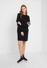 KARL LAGERFELD - CUT OUT SLEEVE DRESS - Day dress - black - 1