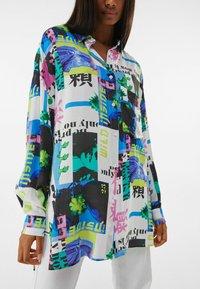 Bershka - MIT PRINT  - Button-down blouse - stone - 3