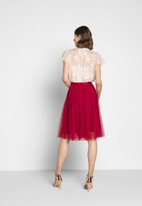 Needle & Thread - KISSES MIDI SKIRT EXCLUSIVE - A-line skirt - deep red - 2