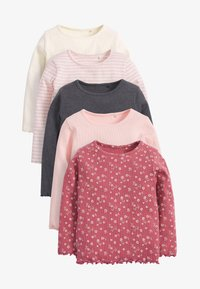 Next - 5 PACK  - Long sleeved top - pink - 0