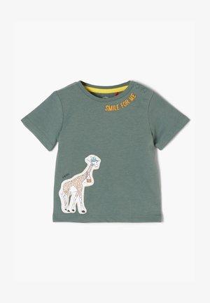 MIT GIRAFFEN-APPLIKATION - Print T-shirt - petrol