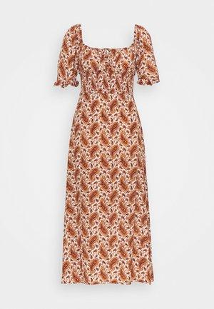 EL PASO MIDI DRESS - Korte jurk - sable/burgundy