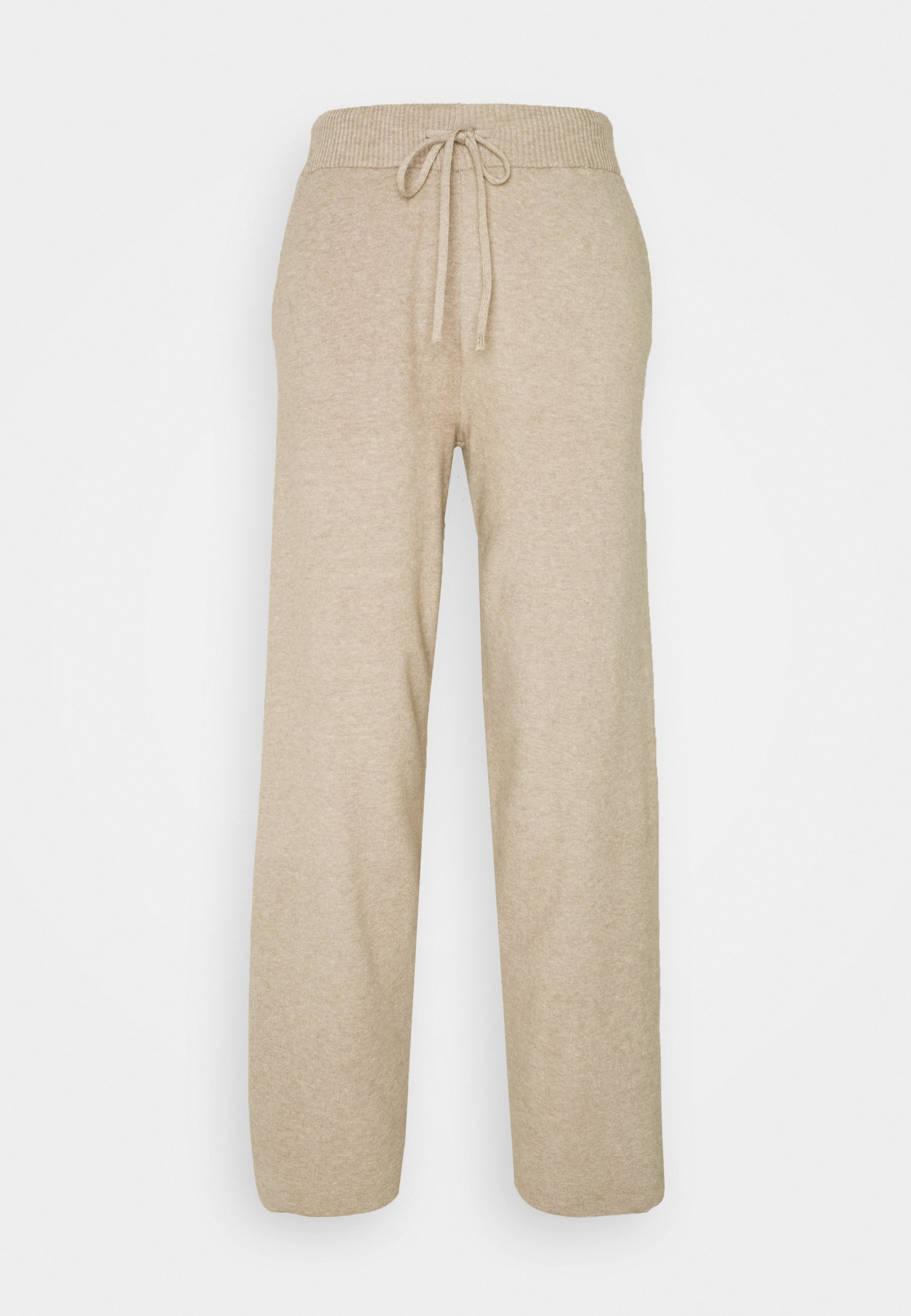 KNIT LOUNGE PANT Bukse mottled dark brown