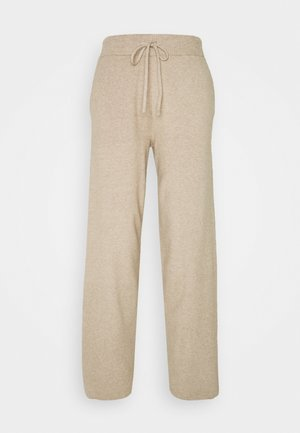 COMFY LOUNGE KNIT TROUSER - Tygbyxor - mottled dark brown