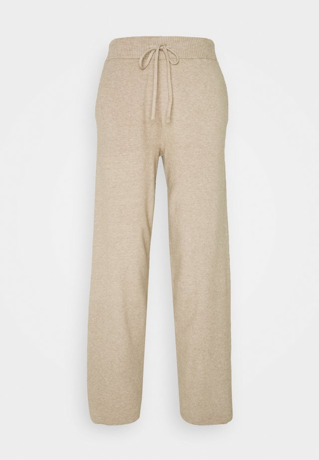 COMFY LOUNGE KNIT TROUSER - Trousers - mottled dark brown