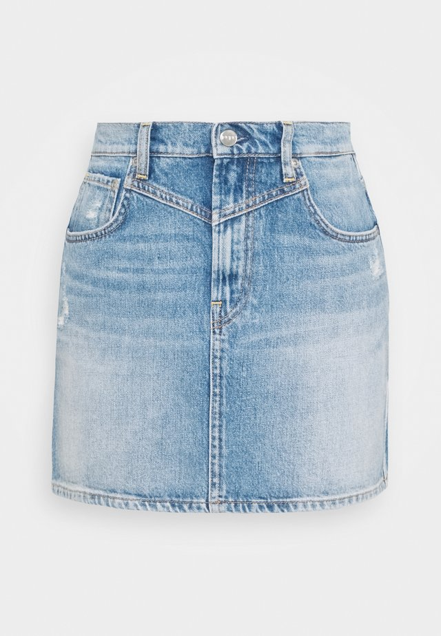 RACHEL SKIRT - Spódnica mini - denim