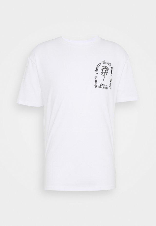 ROSE TEE - T-shirt med print - white