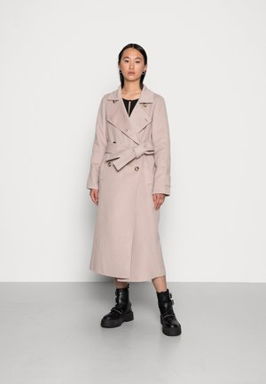 TILLY FELLED TRENCH - Classic coat - mink