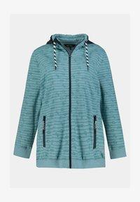 Ulla Popken - GRANDES TAILLES - Zip-up sweatshirt - bleu - 1