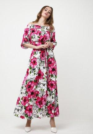 EVRIKA - Maxi dress - weiß, rosa
