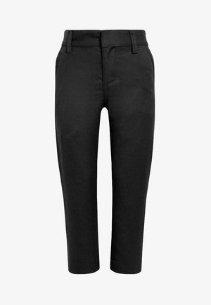 FLAT FRONT TROUSERS  - Trousers - black