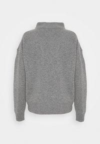 CLOSED - Jumper - grey heather melange - 1