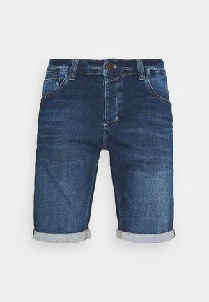 JASON  - Denim shorts - dark-blue denim