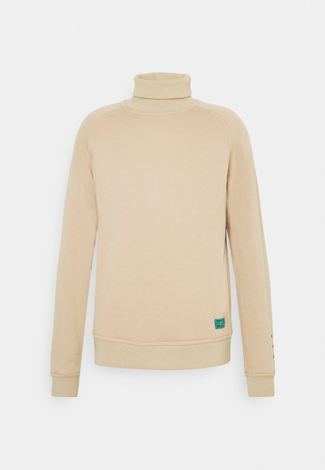 SOFT TOUCH HIGH NECK - Sweater - mushroom brown