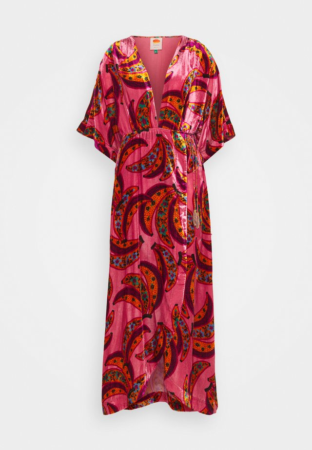 BANANA FLOWERS WRAP DRESS - Maxikjole - multi