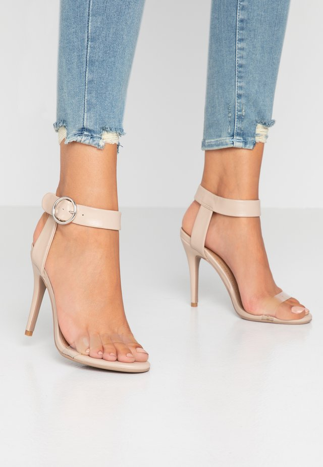 SKYLAR STILLETTO - Sandalen met hoge hak - nude