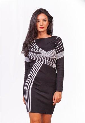 Vestido de tubo - black/white