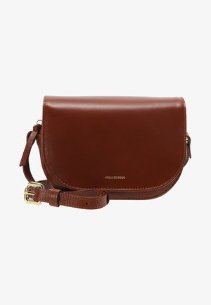 RAF CURVE EVENING BAG - Axelremsväska - cognac