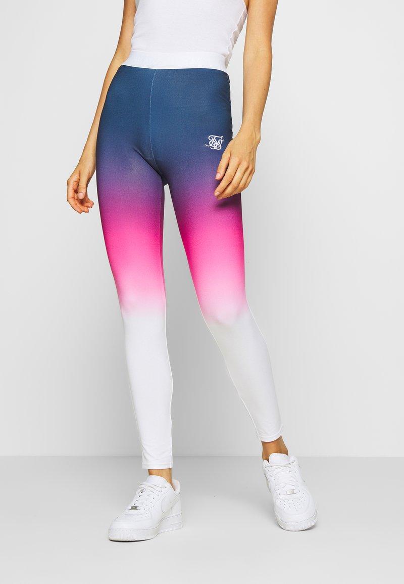 SIKSILK - FADE TAPE - Leggings - Trousers - navy/pink/white