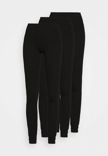 3 PACK - Leggings - black