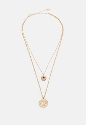 DOUBLE COIN MUTLIROW - Necklace - gold-coloured