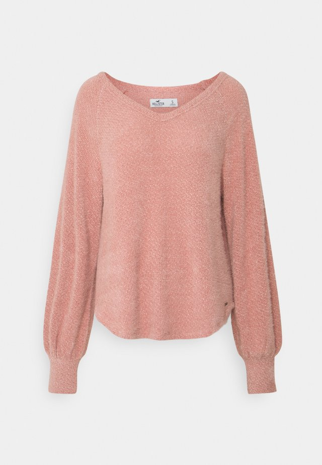 COZY EYELASH EASY - Stickad tröja - pink