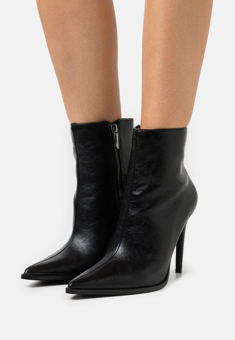Topshop - HONEY POINT ZIP BOOT - Classic ankle boots - black