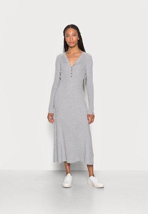 HENLEY MIDI  - Jumper dress - light grey heather
