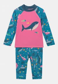 Frugi - SUN SAFE SET WHALES - Swimsuit - blue - 0