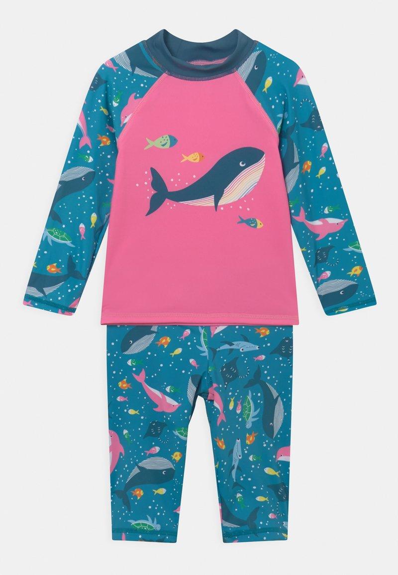 Frugi - SUN SAFE SET WHALES - Swimsuit - blue