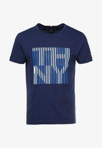 Tommy Hilfiger - STRIPE TEE - Print T-shirt - blue - 3