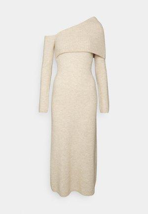 LYDIA DRESS - Sukienka dzianinowa - oatmeal