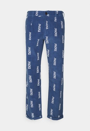 NOW NEW ORGANIC WORLD SPECIAL EDITION UNISEX - Trousers - blue shadow/off-white