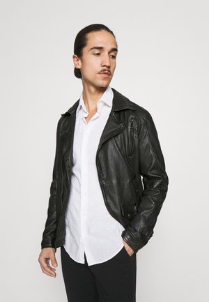 STRONG BOX - Leather jacket - black