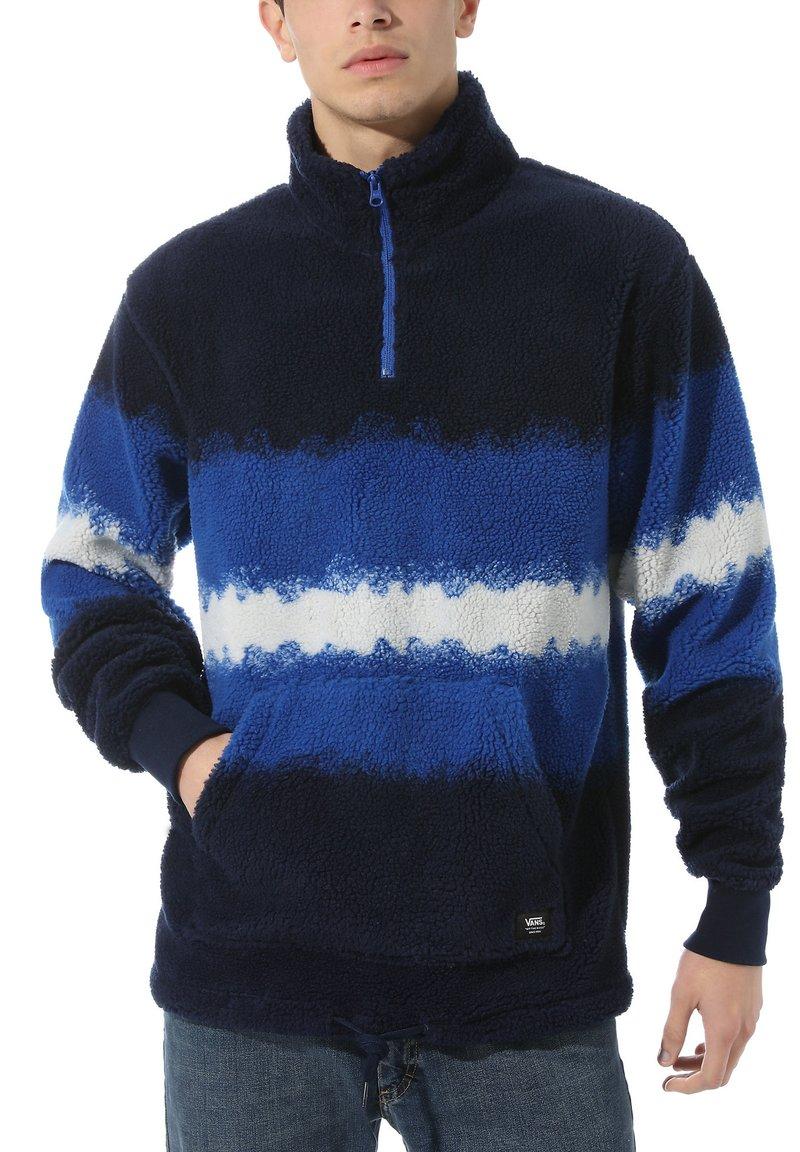 Vans - MN COZY SHERPA QZP - Sweatshirt - victoria blue