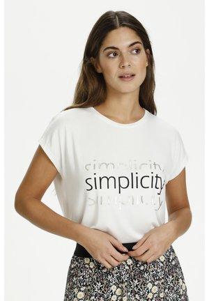 Camiseta estampada - chalk
