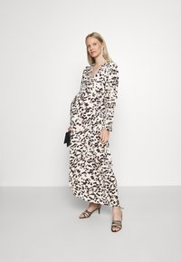Glamorous Bloom - WRAP DRESS WITH TIE DETAIL - Maxi dress - cream brown abstract - 1