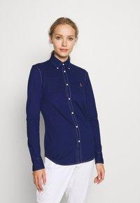 Polo Ralph Lauren - HEIDI LONG SLEEVE - Button-down blouse - holiday navy - 0
