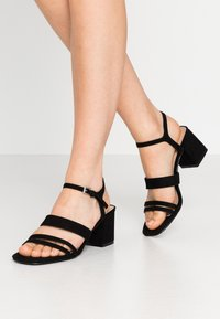 Miss Selfridge Wide Fit - WIDE FIT STORMI BLOCK - Sandaler - black - 0
