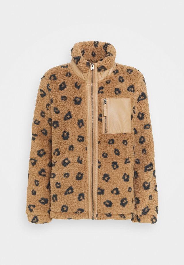 SHERPA TRIM JACKET - Fleece jacket - light brown